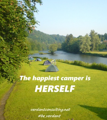 The Happiest Camper is Herself