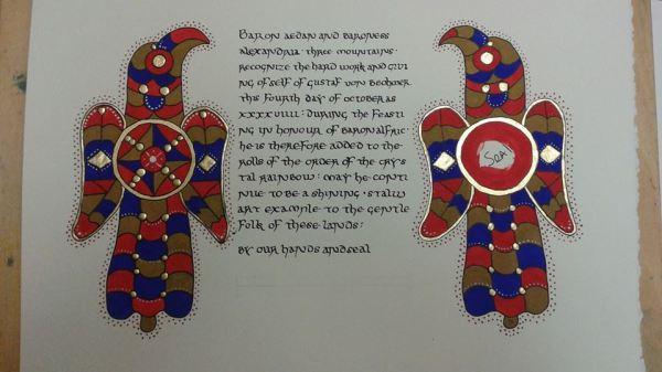 Crystal Rainbow Scroll