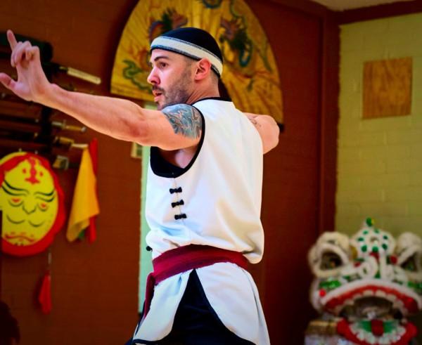 Adult Advanced Kung Fu Schedule image, Mr. Vash practices crane style
