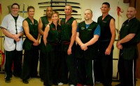 Sifu Banks with his peers and mentors at 9 Dragons Kung Fu in Phoenix, AZ.