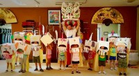 Our summer camp participants showing off their hand-made lions!