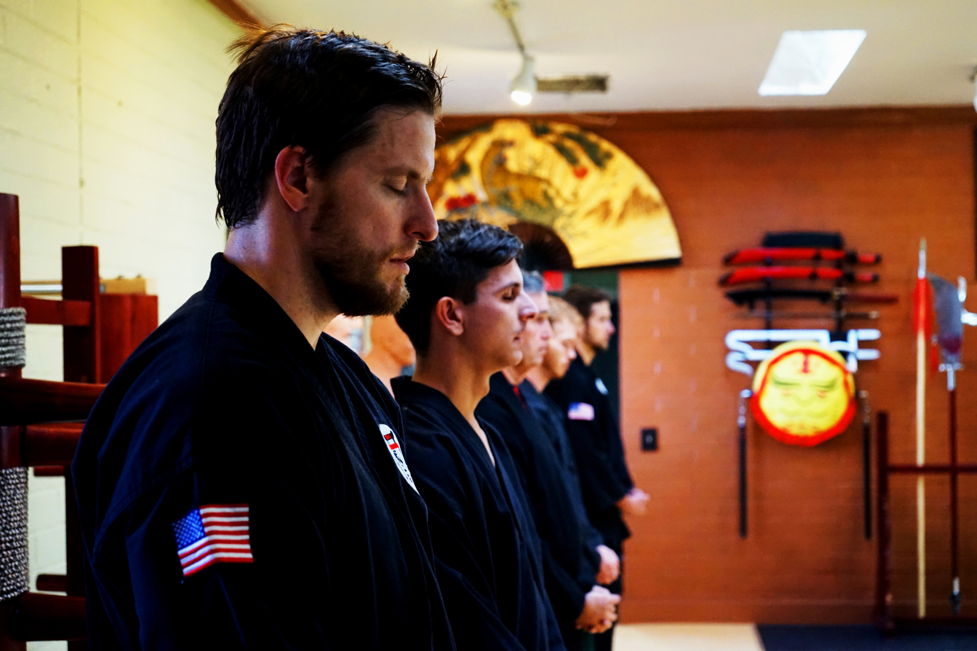 Sensei Joey of Mukei Goshin Jutsu preparing to train hard.