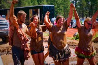 Sifu Banks and students completing the Terrain Mud Run.