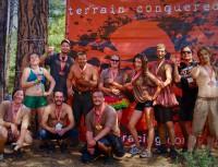 Sacred Mountain students celebrating a successful Mud Run.