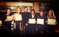 Sifu Banks with Women's Self Defense Course graduates at the Hotel Weatherford in Flagstaff, AZ.
