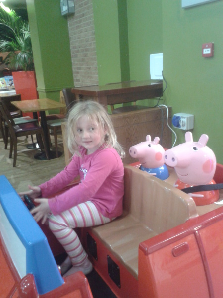 Taking Peppa and George for a ride