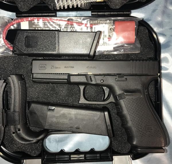 Gen 4 Glock 21 Night Sights .45 $475