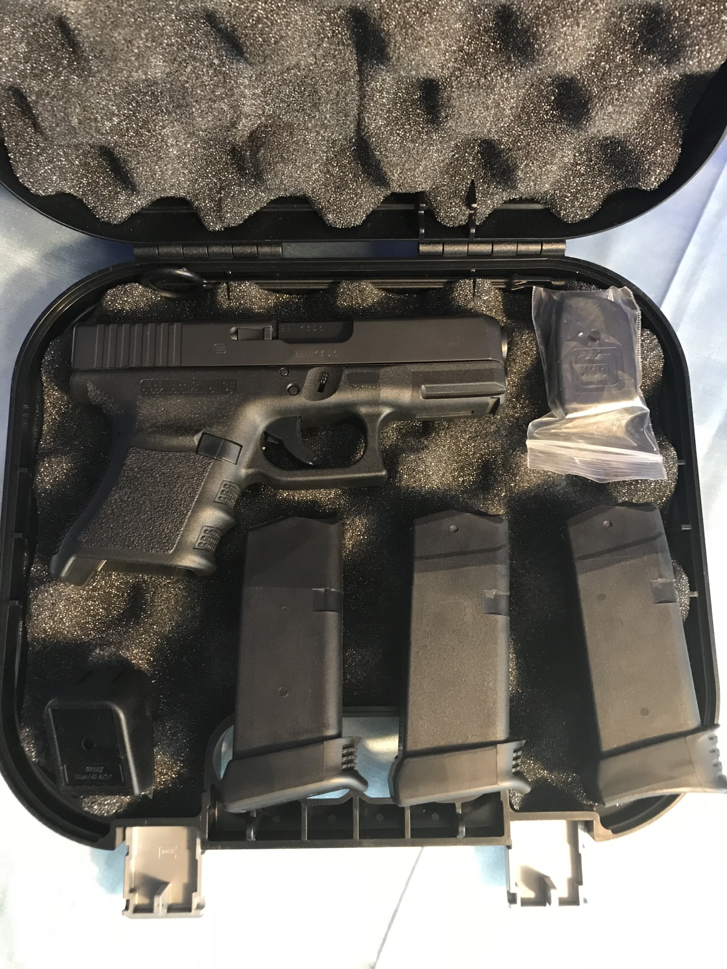 Glock 30S ext mags, 45acp $500