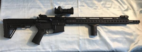 "Bear Creek Arsenal AR15, 18"" barrel $650/700 SOLD OUT"