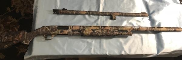 Mossberg 500 Turkey/ Deer Combo dual barrel $425