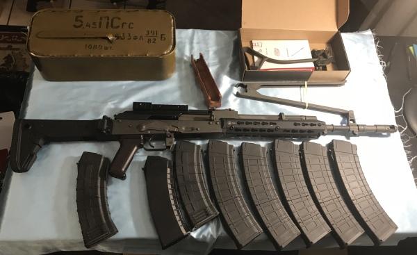 AK74 Polish Tantal, Troy forgrip, Zhukov stock, 8 mags, 1200rds ammo 5.45x39 $1100
