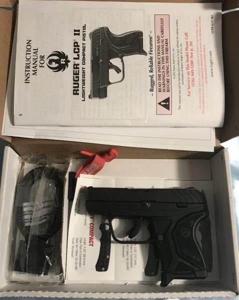 Ruger LCP2, .380 LNiB, $325 w/ Kydex Pocket holster
