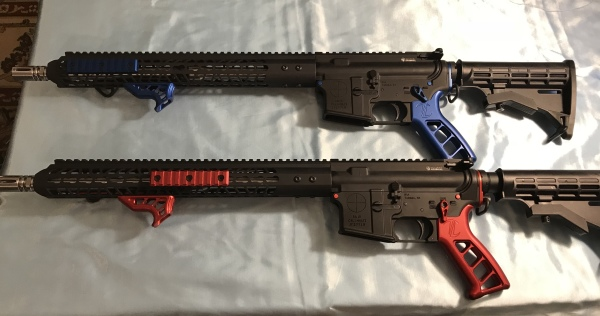 Red and Blue anodized AR15's $850  SALE! $765!!!