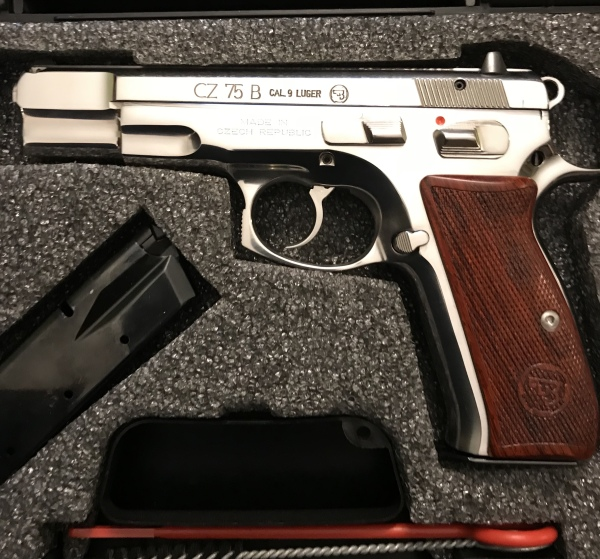 CZ 75B Polished Stainless $750  SALE! $675!!!