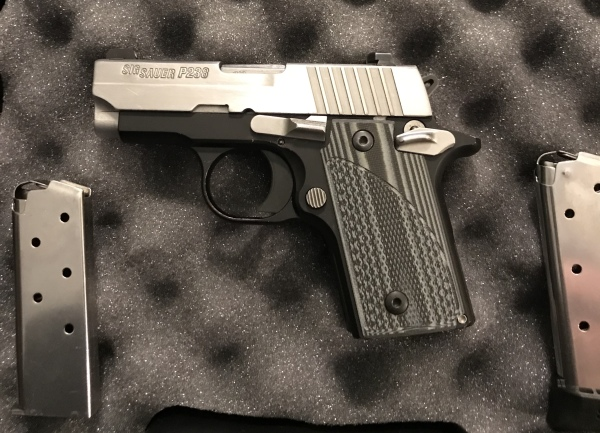 Sig Sauer P238, New NS, G10 Grips, ext mag, $600 SALE! $540!!!