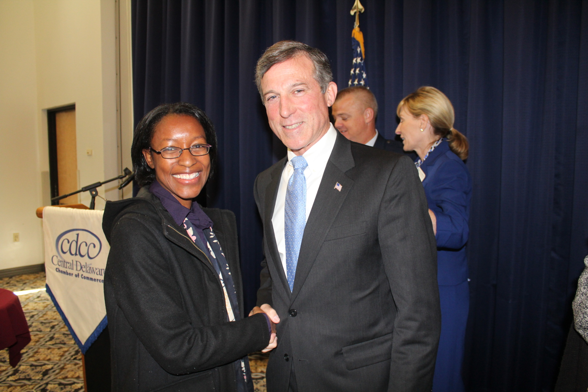 At Dover Air Force Base with Governor John Carney