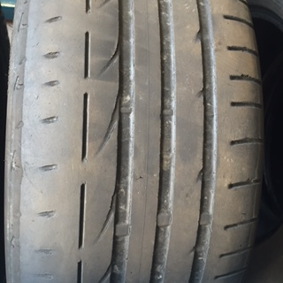 """Tyre worn to excess and would suggest wheel  wheel alignment"""