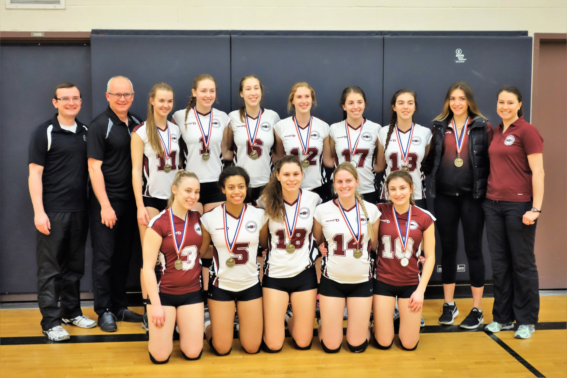 18U Gold in Markham Youth Volleyball Invitational Tournament