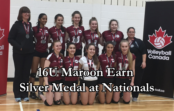 16U Maroon East Nationals Silver Medallists