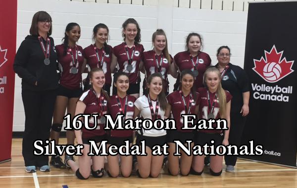 16U Maroon East Nationals Silver Medallists