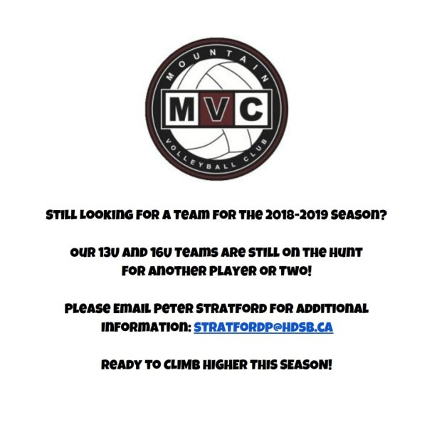 Still Looking for a Team for the 2018-2019 Season?