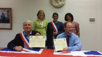 Signing of the twinning charter