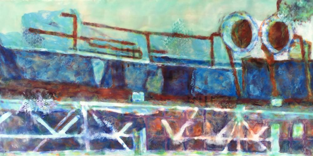 Pompidou Encaustic by S. Kay Burnett