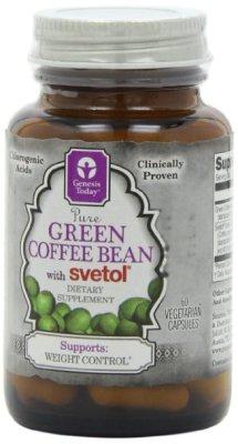 Green Coffee Bean with Svetol, 800 mg per Capsule, 60 Capsules  $17.99