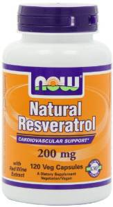Natural Resveratrol, Mega Potency, 200mg, 120 Vcaps  $25.38