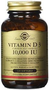 Vitamin D3 (Cholecalciferol) 10,000 IU 120 Softgels  $12.05