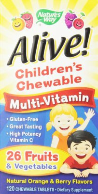 Alive Children's Multi-Vitamin Chewableable Tablets, 120 Count  $13.50