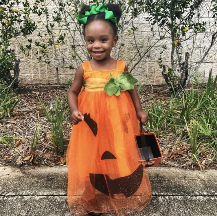 Halloween, Pumpkins, And White Lights