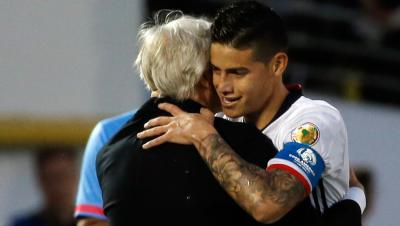 """James, con Colombia: """"Aquí soy feliz"""""""