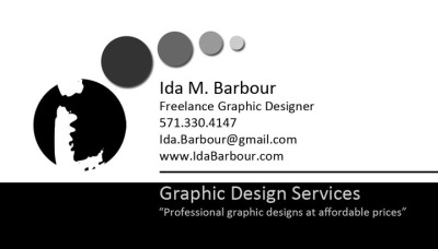 Business Cards - Ida Barbour, Freelance Graphic Designer
