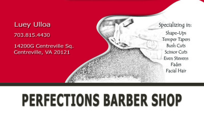 Business Cards - Perfections Barber Shop