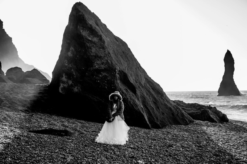 """Bridal"" Portraits on Reynisfjara"