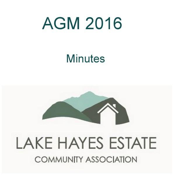 Lakes Hayes Estate AGM
