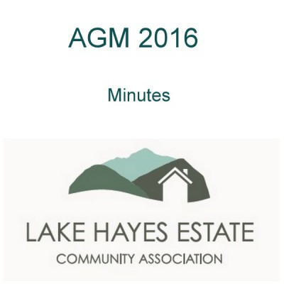 Lakes Hayes Estate AGM
