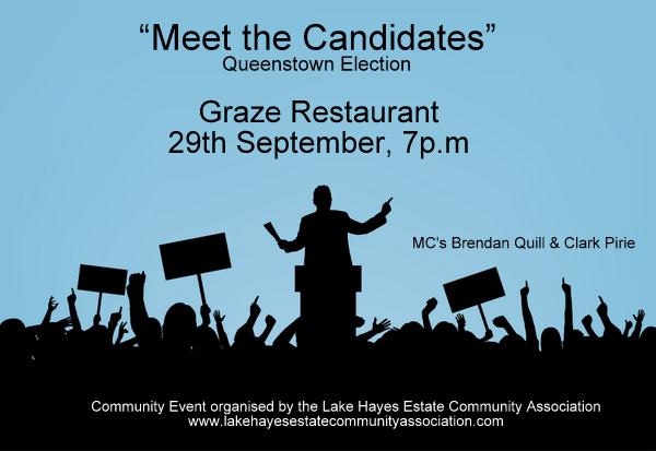Meet The Candidates - Queenstown Local Elections - Graze Restaurant