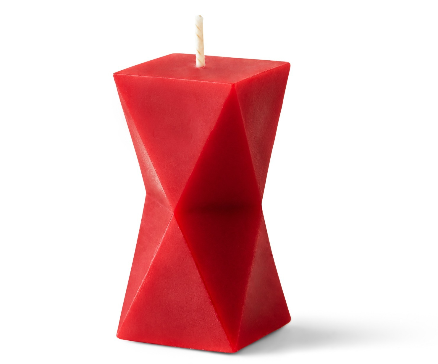 Embla-Diamond-Candle-Red