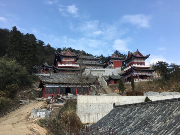 Taoist temple on the top of the mountain