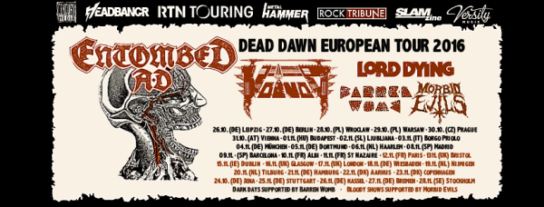 Dead Dawn European Tour 2016