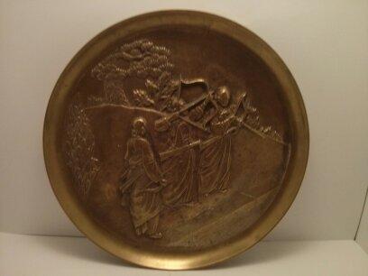 Korean Decorative Brass Plate