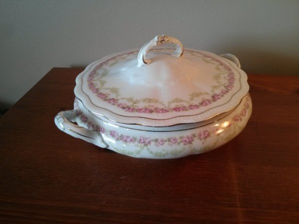 Bridal Rose Pattern by A P Austria Toureen or Vegetable Server