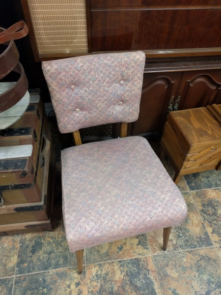 Vintage Upholstered Mid Century Modern Chair
