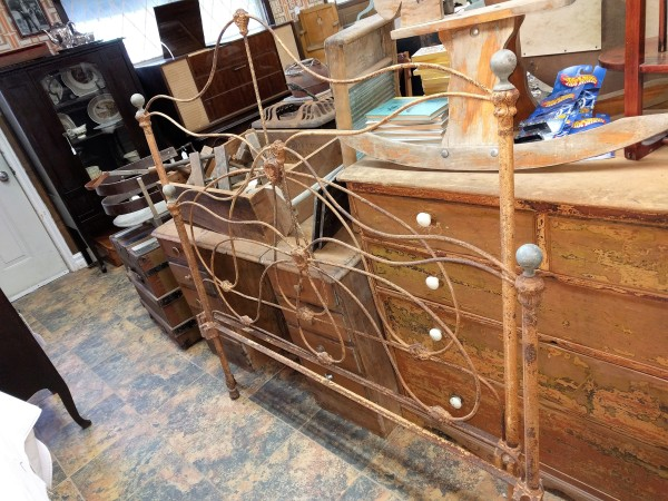 Antique Wrought Iron Head Board and Foot Board