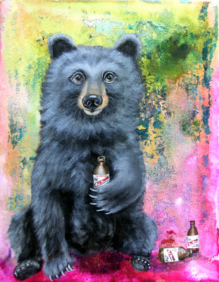 Red Stripe Bear