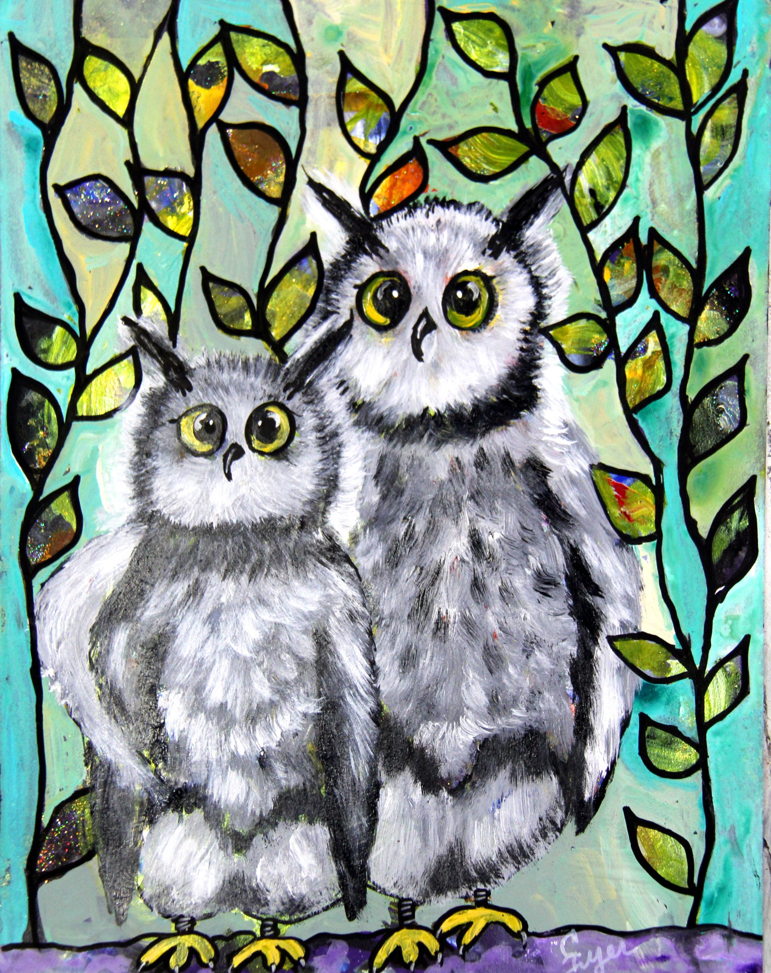 Owl Mother and Daughter