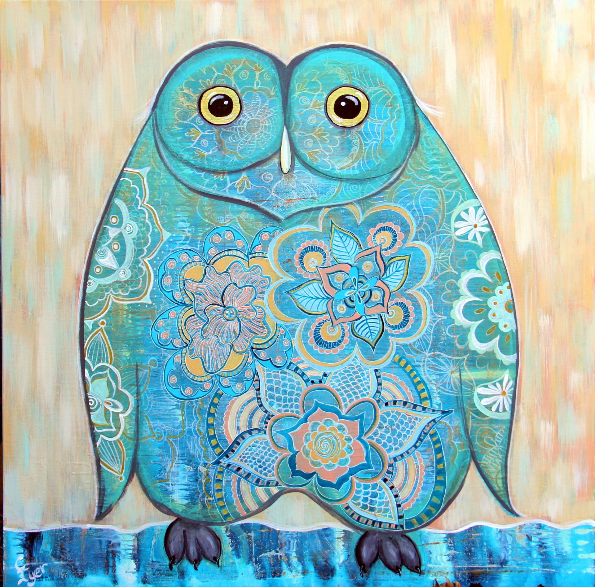 Owl Stylized Doodle