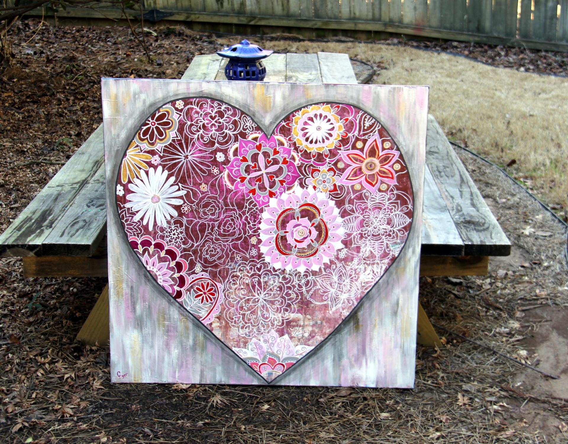 Heart Stylized Doodle